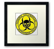 Zombie Outbreak Response Team w/ skull - yellow Framed Print