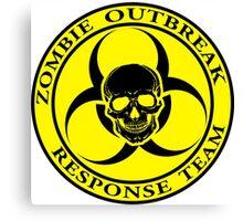 Zombie Outbreak Response Team w/ skull - yellow Canvas Print