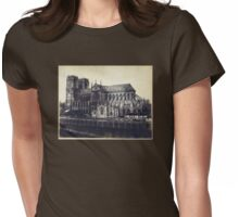 Notre Dame Cathedral 1850 - 1859 Paris France Photograph Womens Fitted T-Shirt