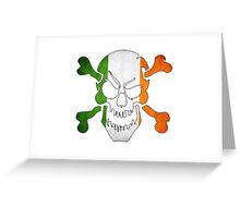 Ireland Flag - Skull Greeting Card