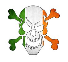 Ireland Flag - Skull Photographic Print