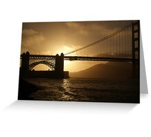 Golden Gate at Sunset Greeting Card