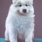 Snow pup by Elena Kolotusha