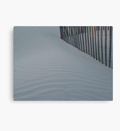 Sea Fence, Hunting Island Dusk Canvas Print