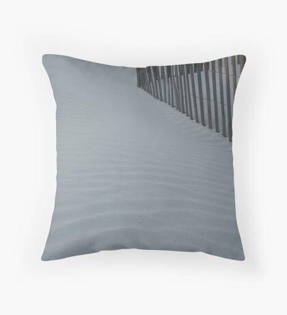Sea Fence, Hunting Island Dusk Throw Pillow