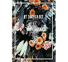 The 1975- You Real Floral Photographic Print