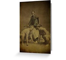 Japanese Sumo Wrestlers 1866 Photograph Greeting Card
