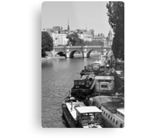 Living on the Seine Metal Print