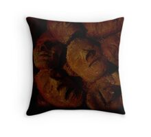 wall of horror Throw Pillow