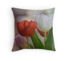 Two Tulips Throw Pillow