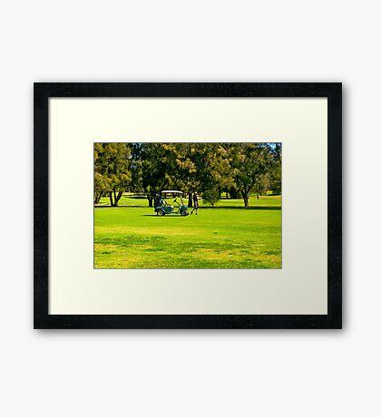 Golfing Framed Print