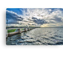 And The Sky Went Boom ! Canvas Print