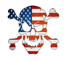 American Flag - Skull by rebel-angel