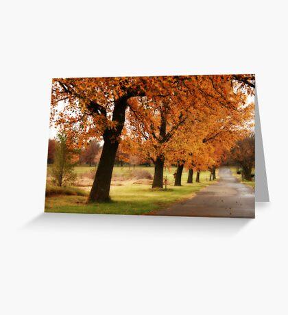 Fall Lane Greeting Card