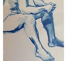 Blue Ink Photographic Print