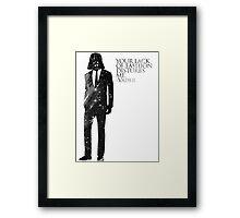 Darth Vader Fashion Sense Framed Print