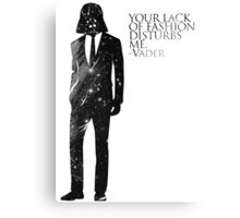 Darth Vader Fashion Sense Canvas Print