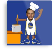 Chef Curry with the Pot, Boy! Metal Print