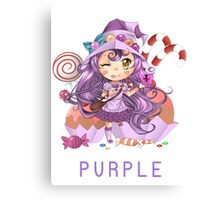 Yup that tasted purple - Lulu Canvas Print