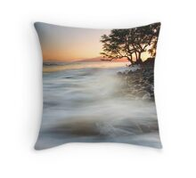 Alone against the Tides Throw Pillow