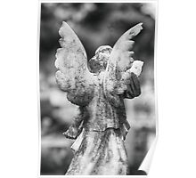 Stone Angel from Behind Poster
