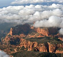 Kolob section of Zions Park with clouds by Randy Weekes