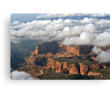 Kolob section of Zions Park with clouds Canvas Print