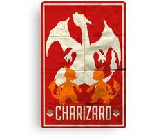 Charizard Old School Canvas Print