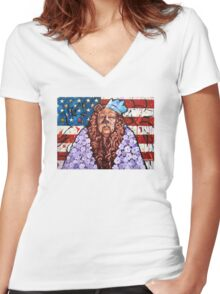 'Courage' Women's Fitted V-Neck T-Shirt