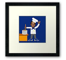 Chef Curry with the Pot, Boy! V.2 Framed Print