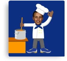 Chef Curry with the Pot, Boy! V.2 Canvas Print