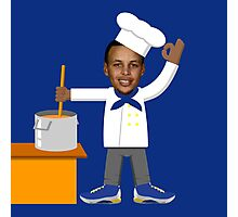 Chef Curry with the Pot, Boy! V.2 Photographic Print