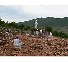 Medugorje Hercegovina - Mary on Apparition Hill Photographic Print