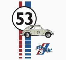Herbie 53 VW bug beetle Baby Tee