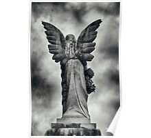 Stone Angel Wings Poster
