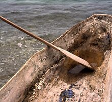 Dugout Wooden Canoe in Haiti by Anna Lisa Yoder