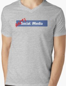 (Anti)Social Media Mens V-Neck T-Shirt