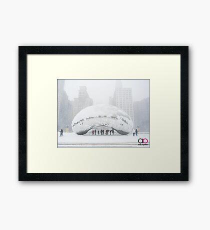 Bean Covered in Snow Framed Print