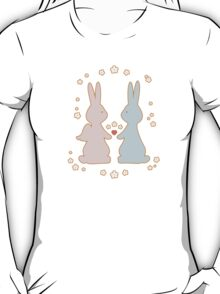 Bunny Love with Flowers T-Shirt