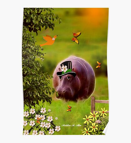 ~ Henry Hippo - Going to the Picnic ~ Poster