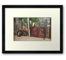 Route 66 Artifacts Framed Print