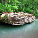 A Simple Beauty... Rock, and Water ~ Dripping Spring, Arkansas by NatureGreeting Cards ©ccwri