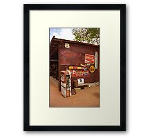 Route 66 Garage and Pump Framed Print
