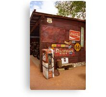 Route 66 Garage and Pump Canvas Print