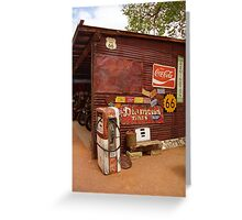 Route 66 Garage and Pump Greeting Card