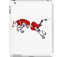 Red Voltron Lion Cubist iPad Case/Skin