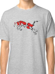 Red Voltron Lion Cubist Classic T-Shirt