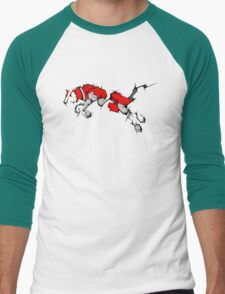 Red Voltron Lion Cubist Men's Baseball ¾ T-Shirt