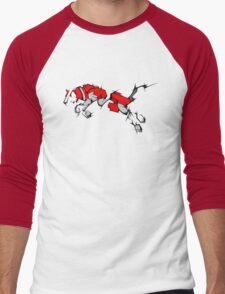 Red Voltron Lion Cubist Men's Baseball ¾ T-Shirt