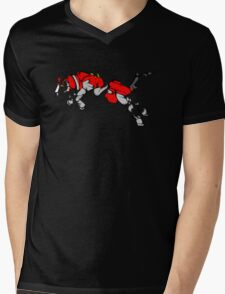 Red Voltron Lion Cubist Mens V-Neck T-Shirt